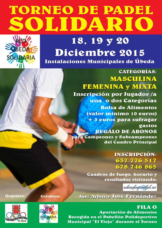 Torneo de Pádel Solidario 2015