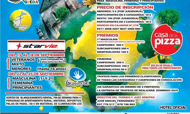 """XVII Torneo de Pádel """"Ciudad de Úbeda 2016"""""""