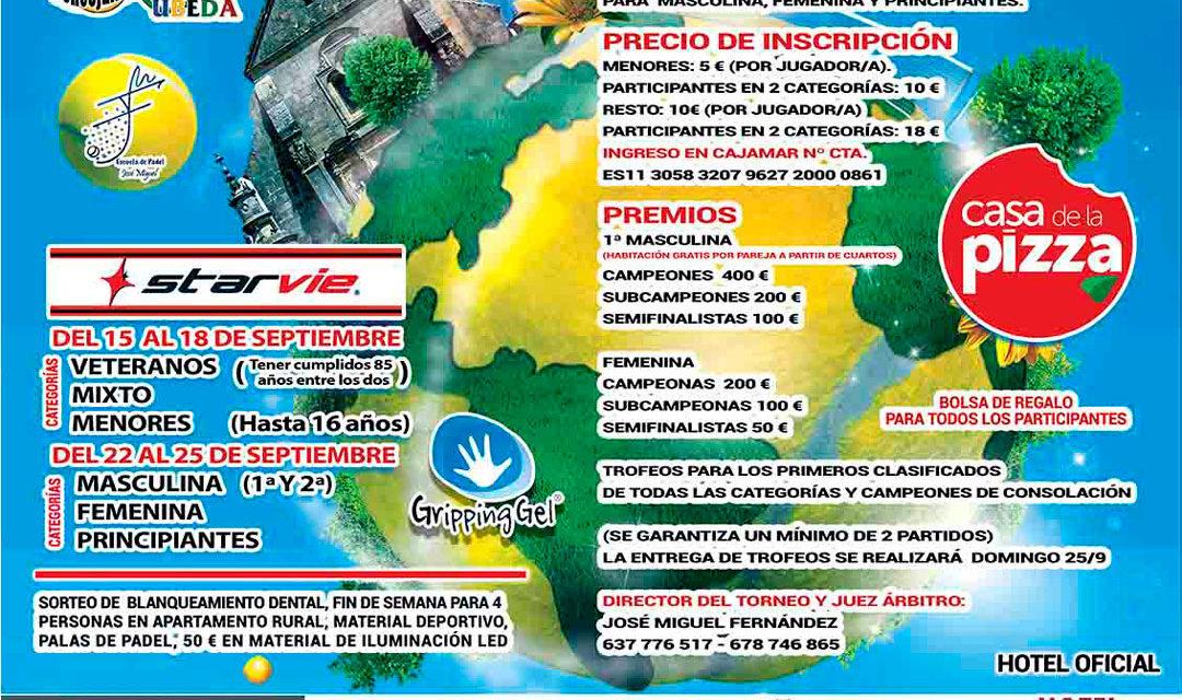 XVII Torneo de Pádel «Ciudad de Úbeda 2016»